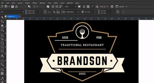Логотип для ресторана в CorelDRAW