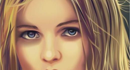 A portrait in CorelDRAW #3
