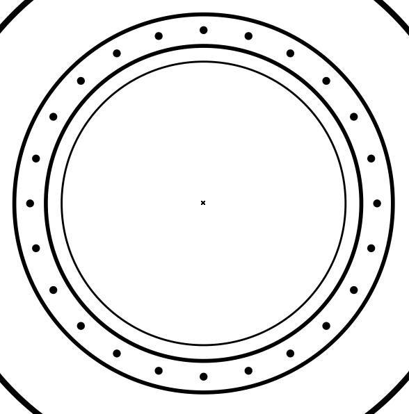 Создание изображения шкалы компаса в CorelDRAW